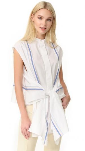 Блуза в полоску EDUN. Цвет: белый мульти