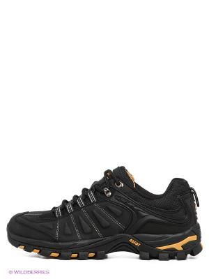 Кроссовки Ascot. Цвет: черный, желтый