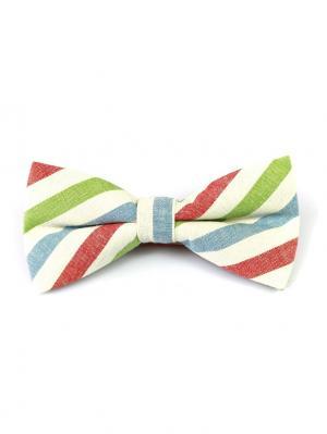Галстук-бабочка Churchill accessories. Цвет: темно-синий, синий, зеленый, красный, белый