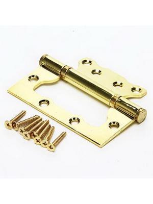 Петля накладная (БЕЗ ВРЕЗКИ) 4x3x2,5 pb золото (100x75x2,5) KORAL. Цвет: золотистый