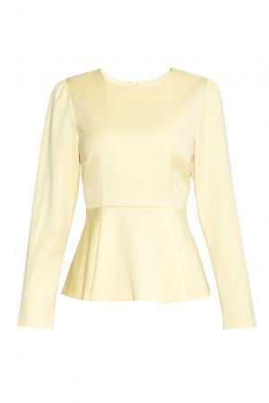 Блуза из шерсти 136801 Villa Turgenev. Цвет: желтый