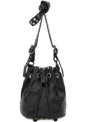Маленькая сумка-торба через плечо Campomaggi. Цвет: черный