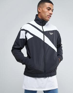 Reebok Черная спортивная куртка Vector BK5095. Цвет: черный