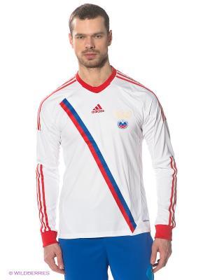 Лонгслив Adidas. Цвет: белый, синий, красный