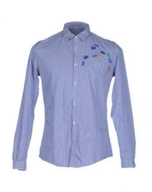 Pубашка DANIELE ALESSANDRINI. Цвет: синий