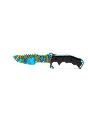 Охотничий нож. Поверхностная закалка MASKBRO. Цвет: серо-голубой
