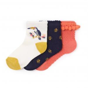 Носки заниженные, фантазийные (3 пары), 3-12 лет La Redoute Collections. Цвет: набивной рисунок