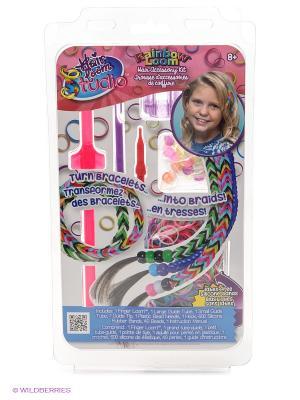 Набор для плетения украшений волос Хэа Лум Сингл RAINBOWLOOM. Цвет: розовый