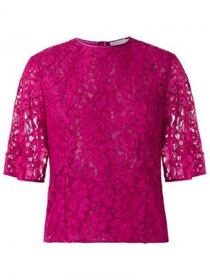 Кружевная блузка Martha Medeiros. Цвет: розовый и фиолетовый