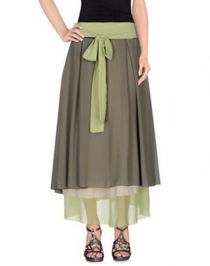 Длинная юбка MICHAEL DASS. Цвет: зеленый-милитари