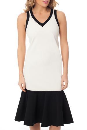 Коктейльное прилегающее платье Gloss. Цвет: серый, черный