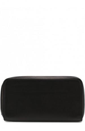 Кожаное портмоне на молнии Ann Demeulemeester. Цвет: черный