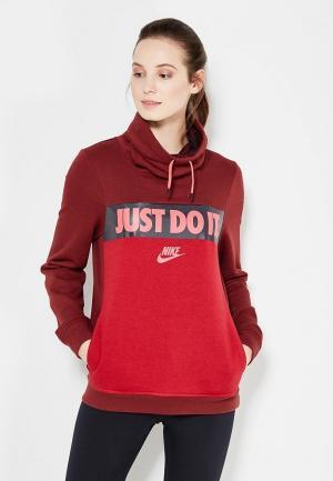 Свитшот Nike. Цвет: бордовый