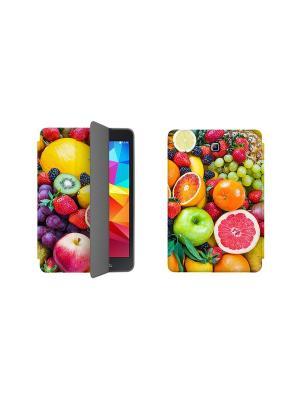 Дизайнерский чехол-книжка для Samsung Galaxy Tab A 8.0. Фрукты With Love. Moscow. Цвет: салатовый, красный, светло-желтый