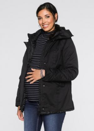 Куртка для беременных и молодых мам, регулируемая ширина (черный) bonprix. Цвет: черный