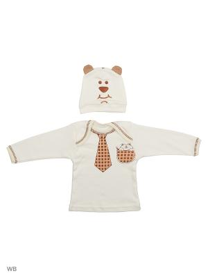 Комплект одежды для малышей Babycollection. Цвет: молочный, коричневый