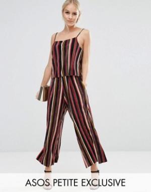 ASOS Petite Комбинируемые брюки-галифе в полоску из комплекта. Цвет: мульти
