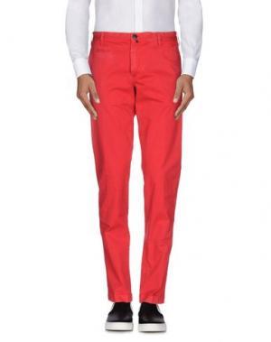 Повседневные брюки JAGGY. Цвет: красный