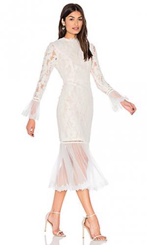 Платье lettice Alexis. Цвет: белый