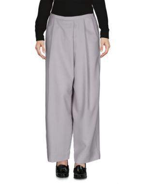 Повседневные брюки POMANDÈRE. Цвет: светло-серый