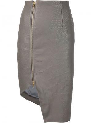 Асимметричная юбка Bristol Dominic Louis. Цвет: серый