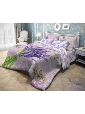 Комплект постельного белья 2,0сп, ВОЛШЕБНАЯ НОЧЬ DIGITAL, ранфорс, 70*70см, стиль-Прованс,  Letter. Цвет: светло-зеленый, оранжевый, темно-фиолетовый