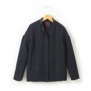 Пальто, расшитое блестящей нитью La Redoute Collections. Цвет: синий морской