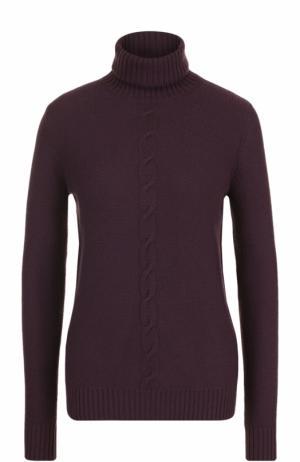 Кашемировый свитер прямого кроя с высоким воротником Loro Piana. Цвет: фиолетовый