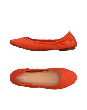 Балетки DRAGON. Цвет: оранжевый