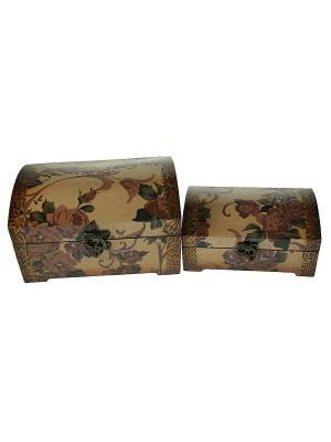 Набор сундучков из 2-х штук Русские подарки. Цвет: коричневый
