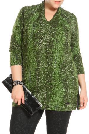 Туника Paola Joy. Цвет: зеленый, змея