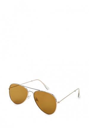 Очки солнцезащитные Topshop. Цвет: золотой