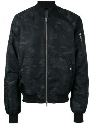 Куртка-бомбер  с принтом Ultra Odeur. Цвет: чёрный