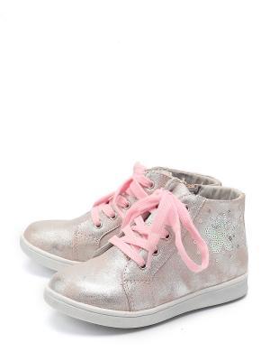 Ботинки KENKA. Цвет: розовый