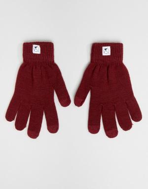 7X Перчатки с отделкой для пользования сенсорным экраном. Цвет: красный
