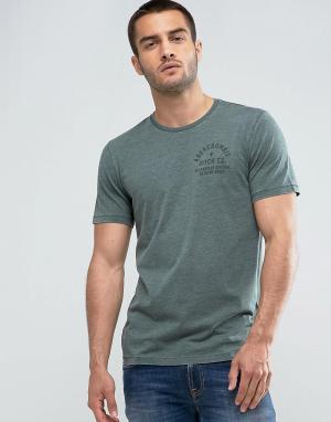 Abercrombie & Fitch Зеленая футболка зауженного кроя. Цвет: зеленый