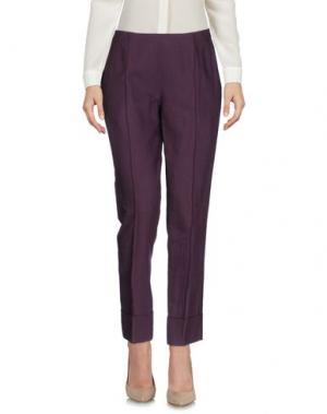 Повседневные брюки N_8. Цвет: баклажанный