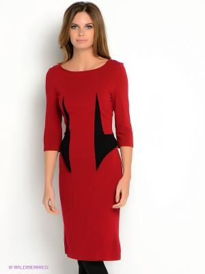 Платье V&V. Цвет: малиновый, черный
