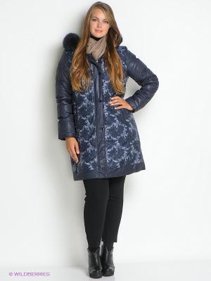 Пальто Sinta Via. Цвет: темно-синий