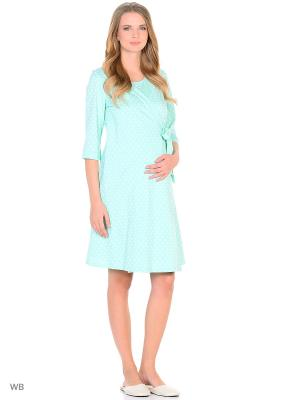 Комплект женский для беременных и кормящих Hunny Mammy. Цвет: бирюзовый, белый