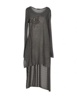 Короткое платье ODI ET AMO. Цвет: серый