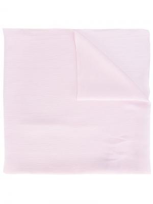 Платок с логотипом Blumarine. Цвет: розовый и фиолетовый
