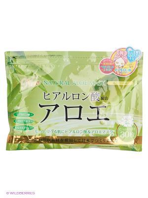Japan Gals Курс натуральных масок для лица с экстрактом алоэ 30 шт. Цвет: прозрачный