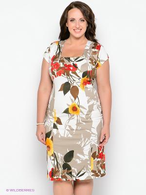 Платье Forus. Цвет: белый, темно-зеленый, бежевый, красный, желтый