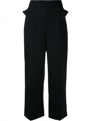 Укороченные брюки cady Mugler. Цвет: чёрный
