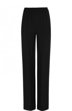 Однотонные расклешенные брюки из шелка Michael Kors Collection. Цвет: черный