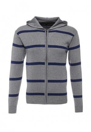 Кардиган Blue Fashion. Цвет: серый