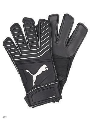 Вратарские перчатки One Grip 17.4 PUMA. Цвет: черный, белый