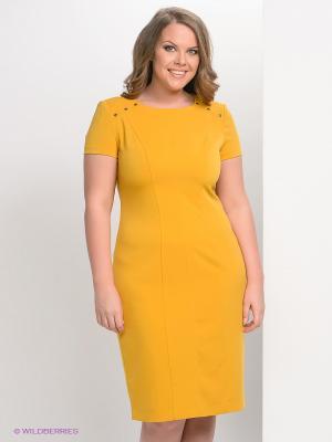 Платье Marlen. Цвет: горчичный