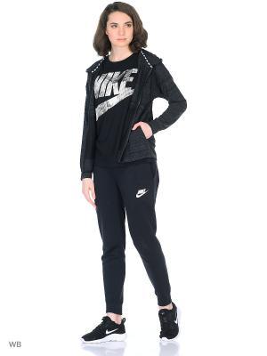 Куртка Nike. Цвет: черный, белый